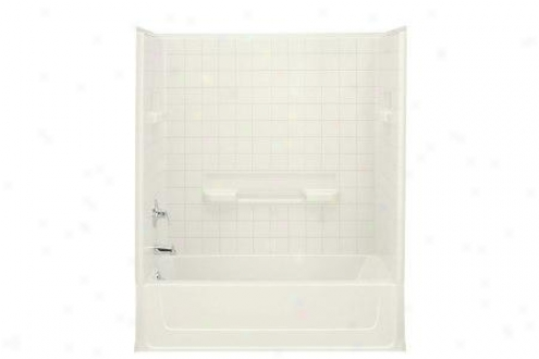 Sterling 61044100-47 All Pro Bath And Shower Wall Group Only, Almond