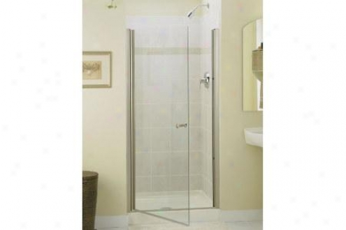 Sterling 6305-30s Finesse Shower Door Frameless 65-1/2h X 28-3/4 - 30-1/4w W/cleancoat Smooth/clea
