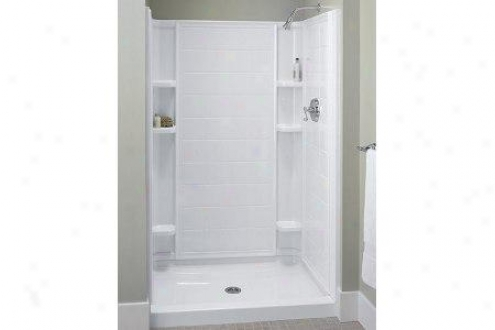 Sterlling 72102100-96 The whole Tile Shower Back Wall Merely, Biscuit