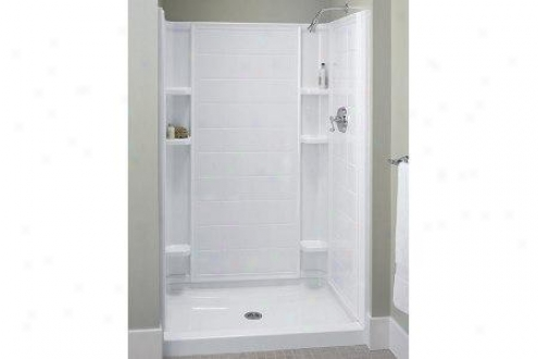 Sterling 72112100-0 Ensemble Tile Shower Hinder part Wall Only White
