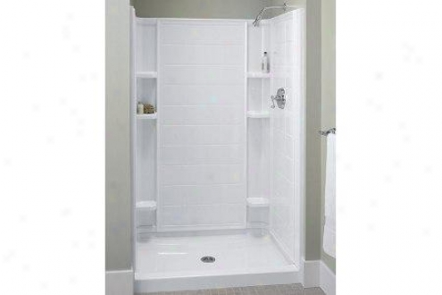 Sterling 72122100-96 Ensemble Tile Shower Back Wall Only, Biscuit