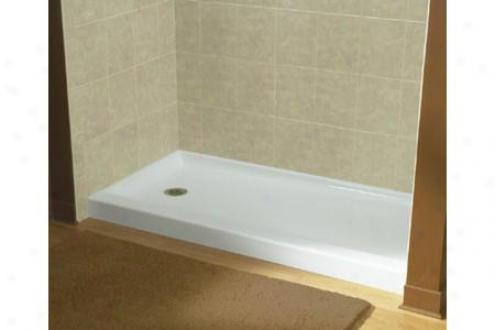 Sterling 72141110-0 Ensemble Shower Receptor Singly Left Hand Drain 60 X 30 White