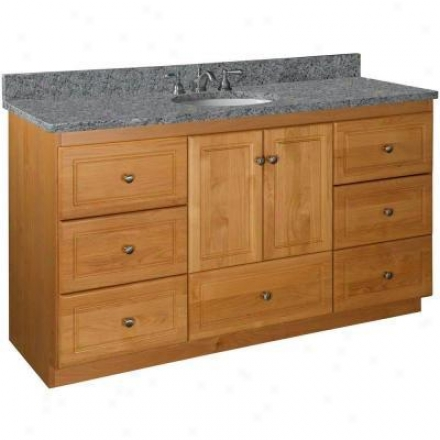 Strasser Woodenworks 01.009.2 Simplicity 60w X 21 D X 34.5 H Ultraline Door Style Idle show Cabinet