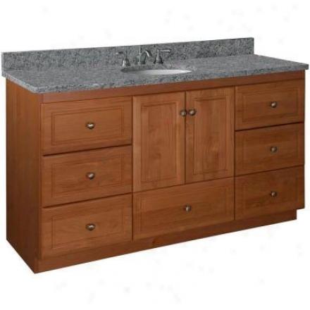 Strasser Woodenworks 01.010.2 Simplicity 60w X 21 D X 34.5 H Ultraline Door Style Emptiness Cabinet