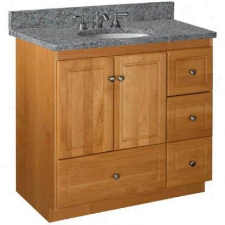 Strasser Woodenworks 01.033.2 Simplicity 36w X 21 D X 34.5 H Ultrline Passage Style Vanity Cabinet