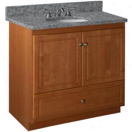 Strasser Woodeneorks 01.042.2 Simplicity 36w X 21 D X 34.5 H Ultraline Dopr Style Vanity Cabinet