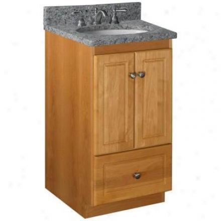 Strasser Woodenworks 01.197.2 Simplicity 18w X 21 D X 34.5 H Ultraline Door Sttyle Vanity Cabient