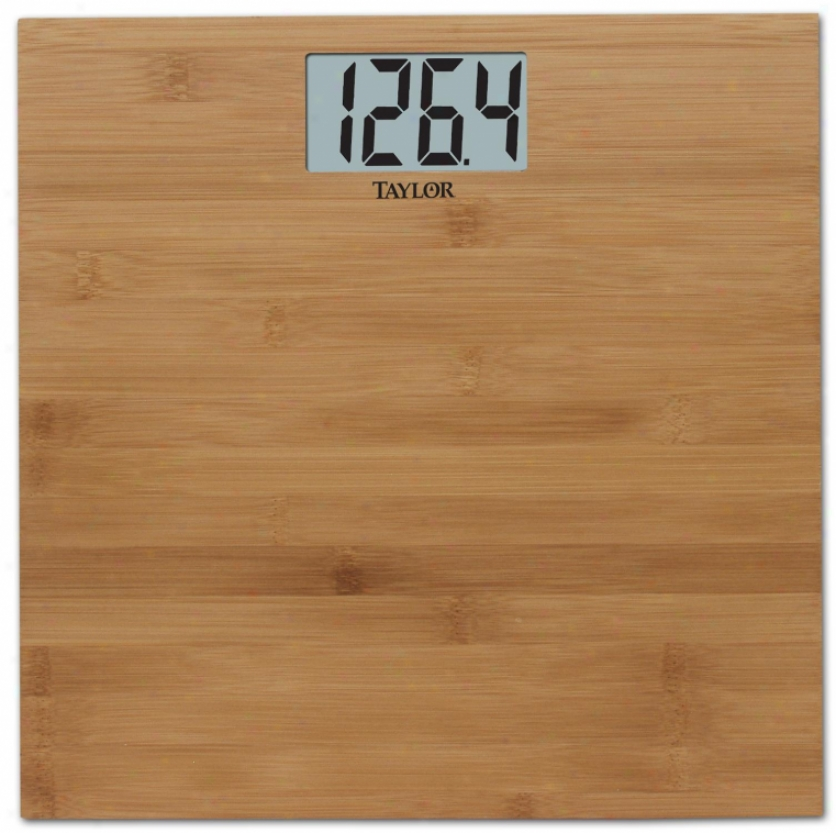 Taylor Precision 8657 Lcd Digitak Scale, Bamboo