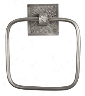 The Copper Factory Cf135sn Square Small change Towel Ring, Sarin Nickel