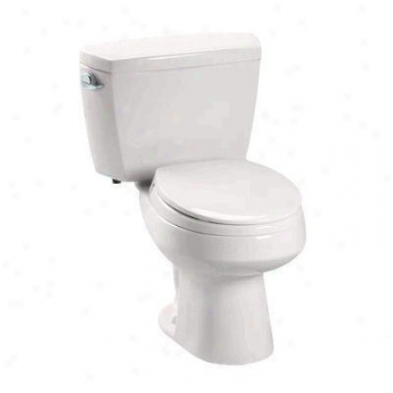 Toto Cst715db11 Colonial Carusoe Round Two Pjece Toilet, Insulated Tank And Bolt Down Lid, 1.6 Gpf,
