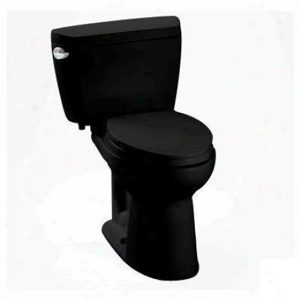 Toto Cst744sd51 Drake Elongated Two Piece Toilet, Insulated, 1.6 Gpf, Ebony