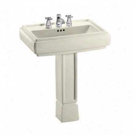 Toto Ethos Lpt670g12 Sedone Design Ni Pedestal Lavatory With Single Hole, Beige
