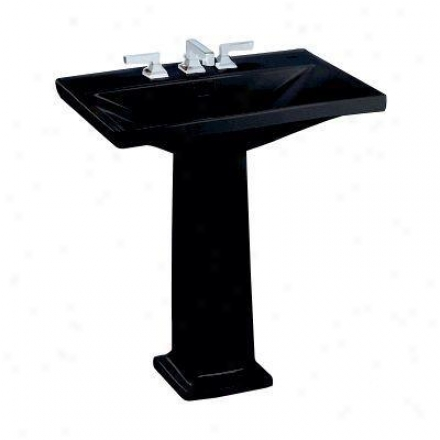 Toto Lloyd Lt930.451 Lavatory With 4 Inch Faucet Centers, Ebony