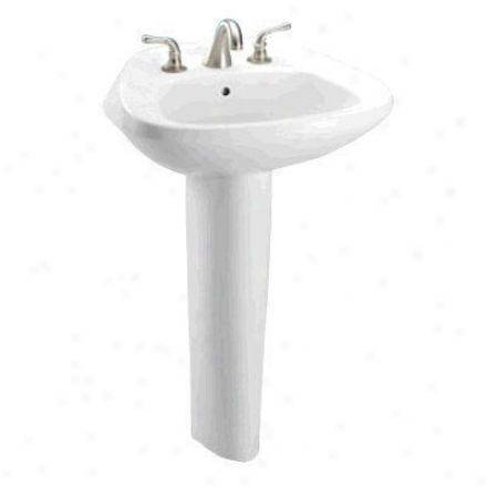 Toto Lpt243t.01 Ultimate Pedestal Lavatory - Single Hovel - Sanaglozs, Cotton
