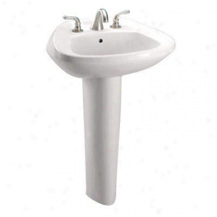 Toto Lt243.8g11 Coleniel Ultimate Pedestal Lavatory With 8 Inch Centers, White