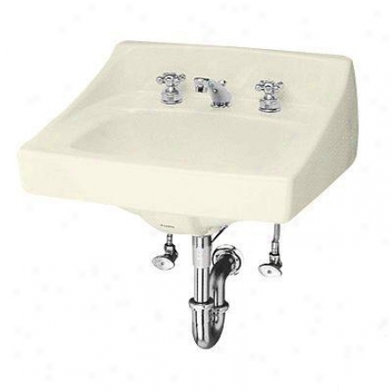 Toto Lt307.803 Wall Mount Lavatory With Faucet Holes On 8 Inch Centers, Bone