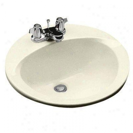 Toto Lt50203 Self Rimming Lavatory With Single Hole, Bone