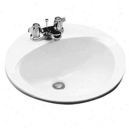 Toto Lt502.401 Self Rimming Lavatory With 4 Inch Faucet Centers, Cotton