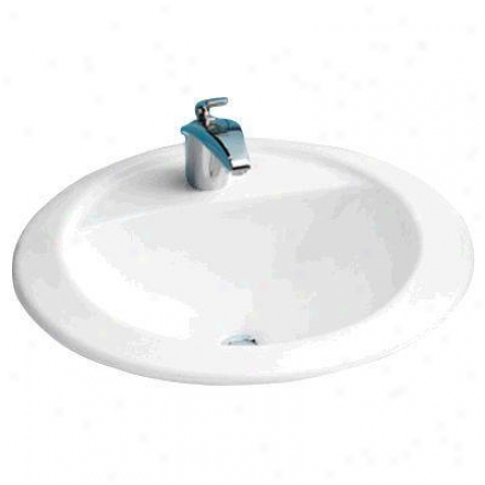 Toto Lt521.01 Prominence Self Rimming Lavatory - Single Hole, Cotton