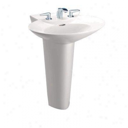 Toto Lt908.811 Coleniel Pacifica Lavatory Only With 8 Inch Faucet Centers, Whie