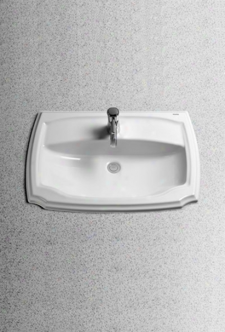 Toto Lt971.8#01 Guinevere Self-rimming Lavatory - 8 Centers - Ada, Cotton