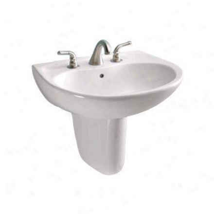 Toto Supreme Lht241g11 Colonial Wall Mount Lavatory With Sincere Holee, White