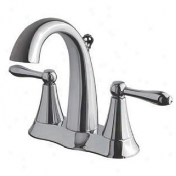 Ulltra Faucets Uf45310 Two-handle Lavatory Faucet With Brass Pop-up, Chrome
