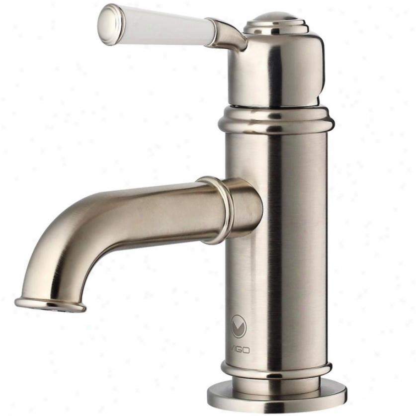 Vigo Vg01039bn Boreas Single Haft Bathroom Faucet, Brushed Nickel