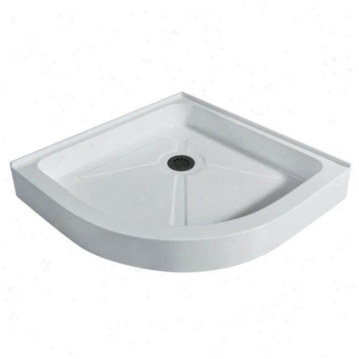 Vigo Vg06029wht40 40 X 40 Neo-round Shower Tray, White