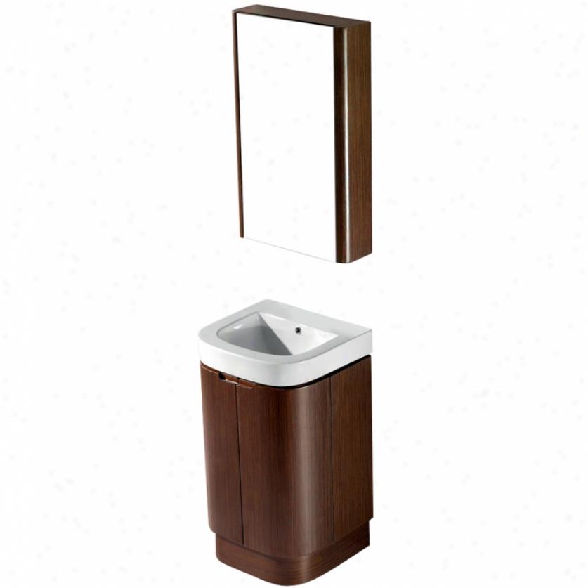 Vigo Vg09017118k 20 Calantha Single Bathroom Vznity With Medicine Cabinet, Wenge