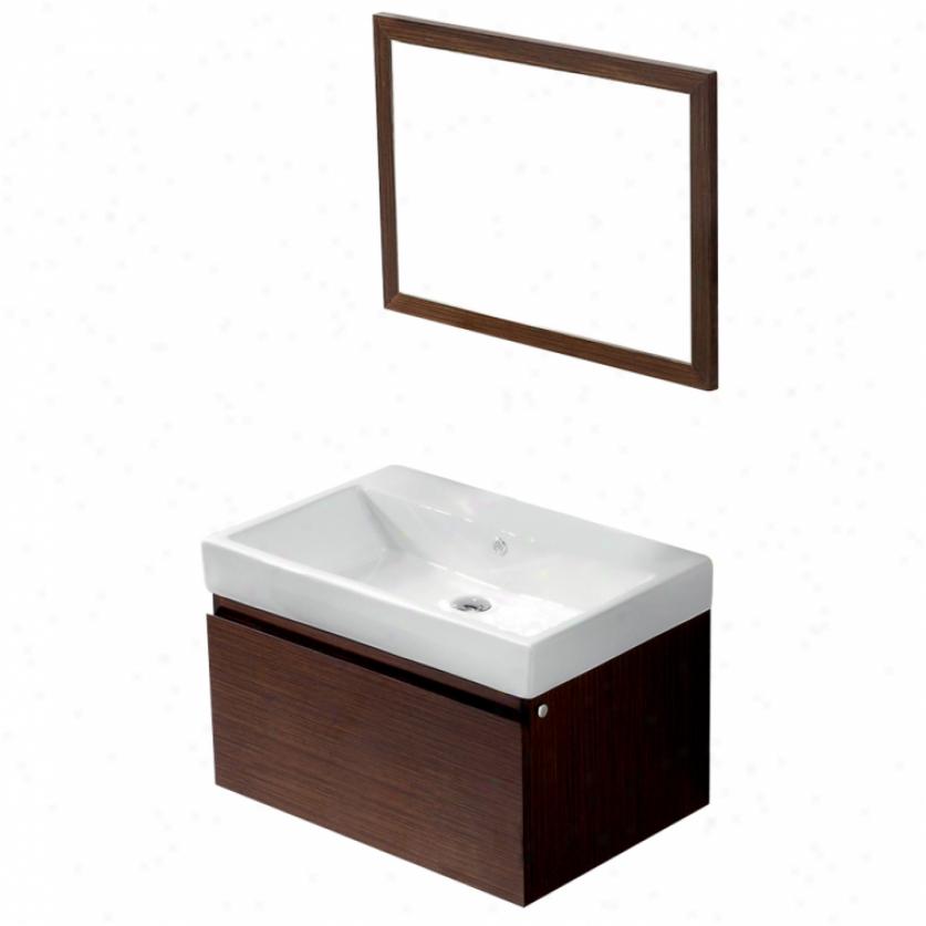 Vigo Vg09018118k 30 Agalia Single Bathroom Vanity With Mirror, Wenge