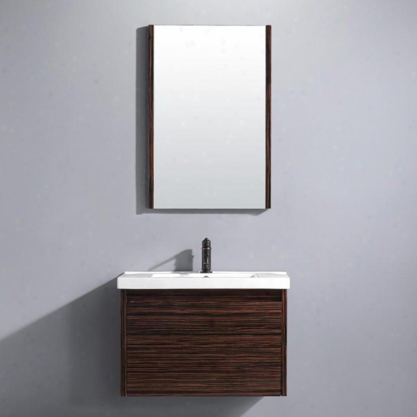 Vigo Vg09035109k 32 Espressso Petit Single Bathroom Vanity With Reflector, Ebony