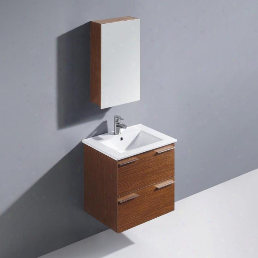 Vigo Vg09036118k 24 Ophelia Single Bathroom Vanity With Mdicine Cabinet, Wenge