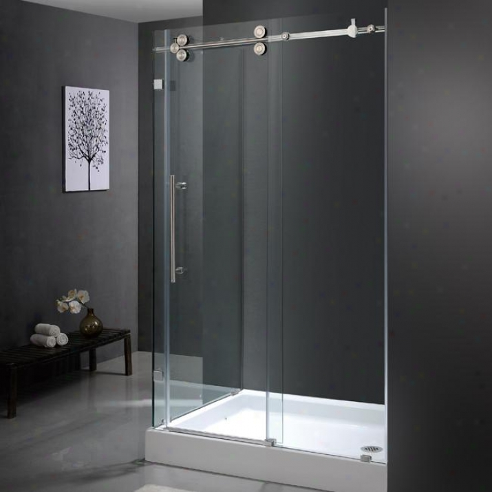 Vigo Vg6051stcl48wr 36 X 48 Frameless 3/8 Shower Enclosure In the opinion of Right Base, Clear And Stainless S