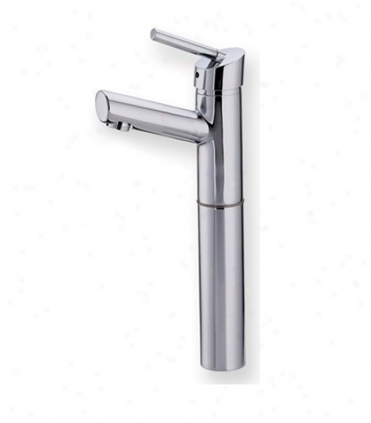 Whutehaus 3-3245ss Centurion Single Hole Lavatory Faucet With Elevated Short Spout, Unsullied Steel