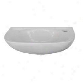 Whitehaus Wh102l Isabella Wall Mount Small Enfield Basin With Left Hole, White