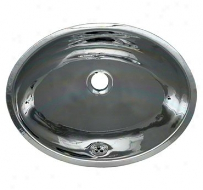 Whitehaus Wh608abl Decorative Basins 16 X 12 Smooth Oval Undermount Basin, Polished Stainless Stee