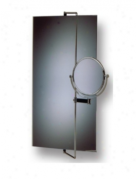Whitehaus Whe6cr-16 New Generation Rectangular Mirror With Magnifying Mirror