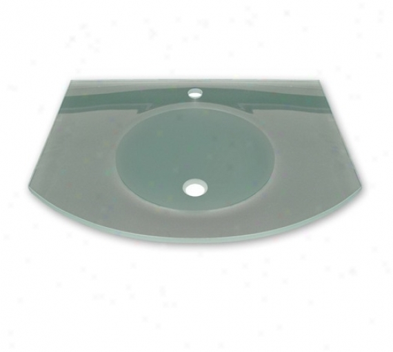 Whitehaus Whlopm-c New Generation Arched Glass Counter Top With Integrated All over Basin
