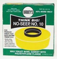 Wm Harvey 001115-24 Wax Toilet Hollow Gasket With Polyehtylene Flange