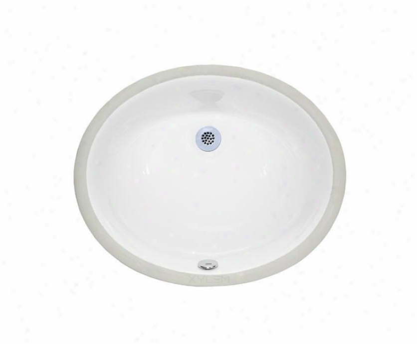 Xylem Cum177ov 18 Inch Undermount Oval Ceramic Sink, White