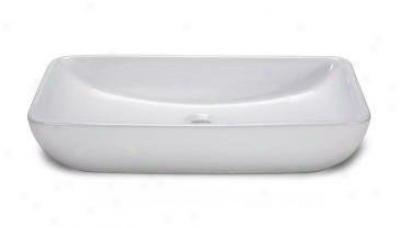 Xylem Cve237rc 23 1/2 Rectangular Vitreous China Vessel Sink, White