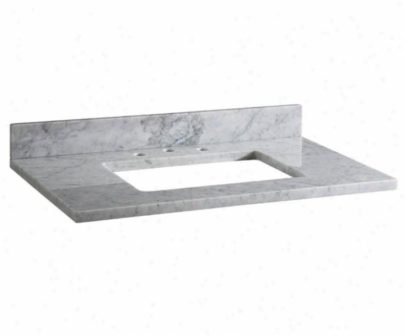 Xylem Maut37rwt 37 Vanity Top, White Marble