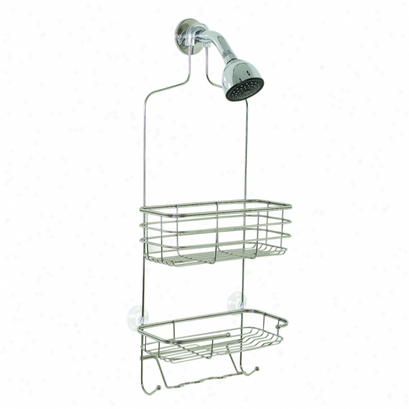 Zenith 7704s Over The Shower Caddy, Chrome