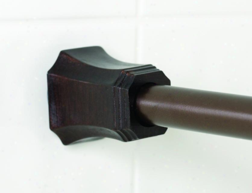 Zenith Hay031rb Hayden Decorative Adjustable Tension Rod, Oil Ruvbed Bronze