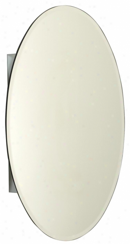 Zenith Mva2030 20 Rate above par Oval Medicine Cabinet With Beveled Mirror