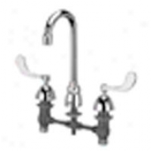Zurn Z831a4-xl Widespread With 3 1/2 Gooseneck And 4 Wrist Blade Handles, Lead Free, Chrome