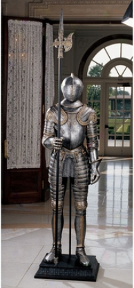 16th-century Language of Italy Armor Sculpture With Halberd