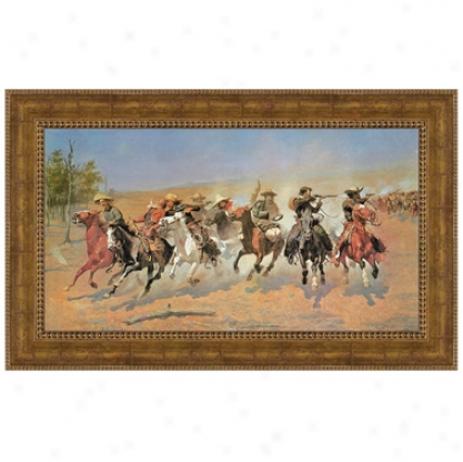 """""""a Dash For The Timber"""" (1889) By Frederic S. Remington, Ij A Private Collection"""