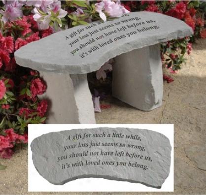 A Gift Cast Stone Memorandum Garden Bench